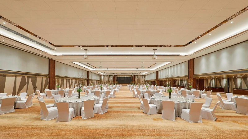 Wenzhou westin hotel banquet hall acoustic movable wall partition installation